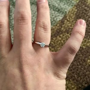 Genuine 1/3CT Solitaire Ring